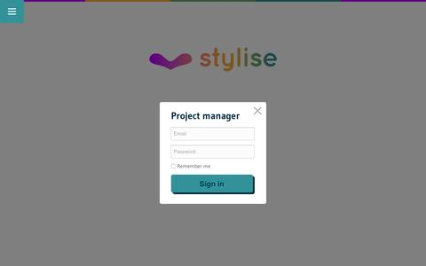 Screenshot of Login Page stylise.co - Sign In | stylise - captured Feb. 26, 2016