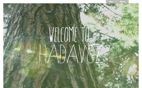 Screenshot of Home Page hadavoz.com - hadavoz.com - captured Sept. 27, 2014