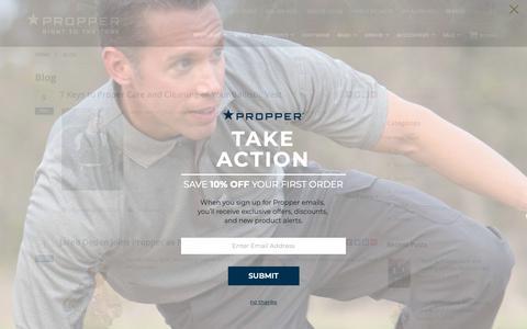 Screenshot of Blog propper.com - Blog - captured Nov. 11, 2018