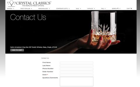 Screenshot of Contact Page Hours Page crystalclassics.com - Customer Service Hours -Crystal Classics - captured Oct. 30, 2017