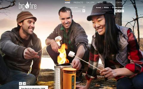 Screenshot of Home Page bigfire.co.uk - BigFire | Outdoor Living, Wood Fired Hot Tubs, Wood Burning Stoves, Wood Ovens.. - captured Oct. 5, 2014