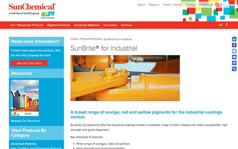 SunBrite® for Industrial | Sun Chemical