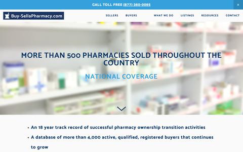 Screenshot of Home Page buy-sellapharmacy.com - Buy-SellaPharmacy.com - captured Oct. 7, 2018