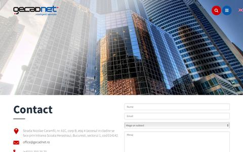 Screenshot of Contact Page gecadnet.ro - Contact   GECAD NET - captured July 9, 2016