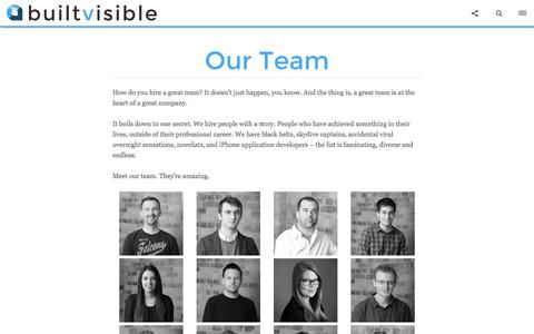Screenshot of Team Page builtvisible.com - Our Team - Builtvisible - captured Sept. 18, 2014