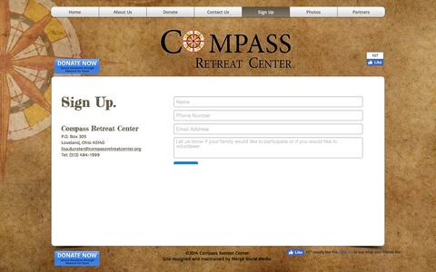 Screenshot of Signup Page compassretreatcenter.org - Sign Up - Compass Retreat Center - captured May 20, 2017