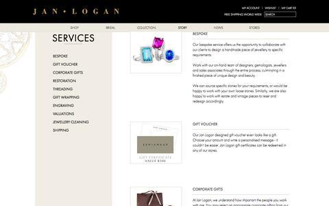 Screenshot of Services Page janlogan.com - Services - captured Sept. 30, 2014