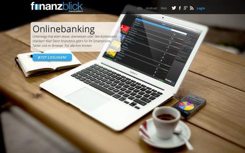 Screenshot of Home Page finanzblick.de - finanzblick - finance platform - captured Sept. 22, 2014