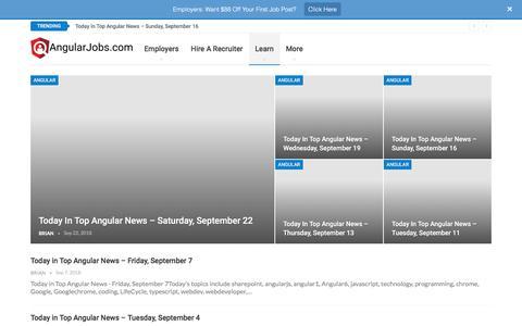Screenshot of Blog angularjobs.com - Blog - AngularJobs.com by Jobsi, Inc - captured Sept. 25, 2018