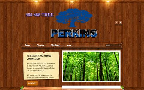 Screenshot of Contact Page perkinstree.com - Contact  - Perkins Tree & Landscape Services, Inc. - captured Oct. 2, 2014
