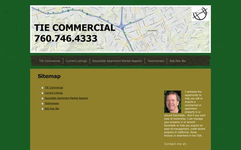 Screenshot of Site Map Page tiecommercial.com - TIE Commercial - TIE Commercial - captured Sept. 30, 2014
