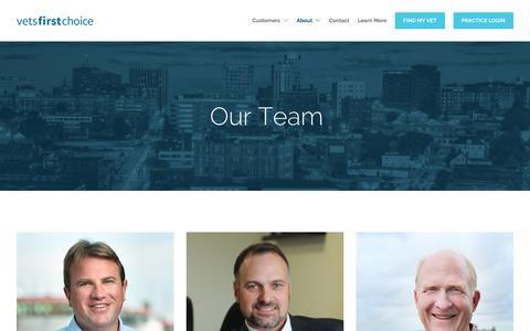 Screenshot of Team Page vetsfirstchoice.com - Vets First Choice | Team - captured July 20, 2017
