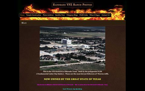 Screenshot of Home Page eldoradoflds.us - Eldorado YFZ Ranch Photos  – Photos of the FLDS compound in Eldorado, Texas - captured June 14, 2016