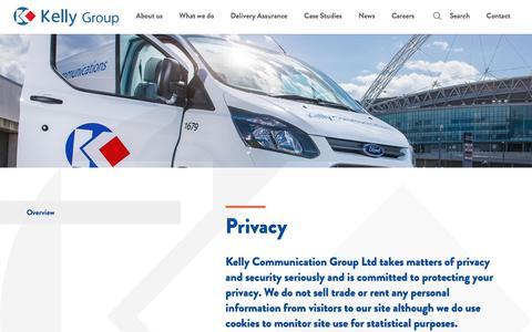 Screenshot of Privacy Page kelly.co.uk - Privacy | Kelly Ltd - captured Oct. 17, 2017