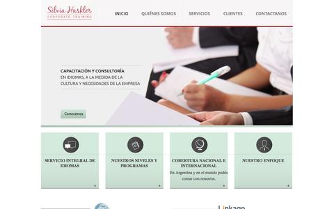 Screenshot of Home Page silviahaskler.com - Silvia Haskler Corporate Training | Potenciar las habilidades de comunicación es más que dominar un idioma - captured Oct. 6, 2014