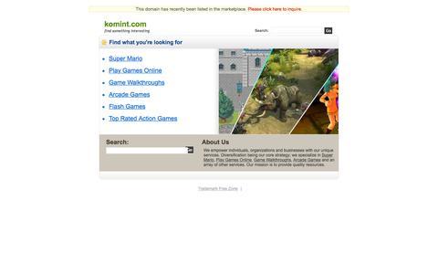 Screenshot of Home Page komint.com - Komint.com - captured Sept. 20, 2018