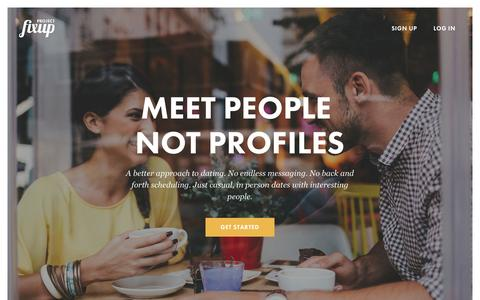 Screenshot of Home Page projectfixup.com - Project Fixup | Meet People Not Profiles - captured Oct. 27, 2015