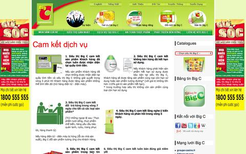 Screenshot of Services Page bigc.vn - Dich Vụ tại Big C - captured Oct. 31, 2014