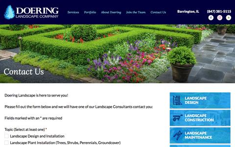 Screenshot of Contact Page doeringlandscape.com - Contact Us - Doering Landscape Company - captured Oct. 12, 2017