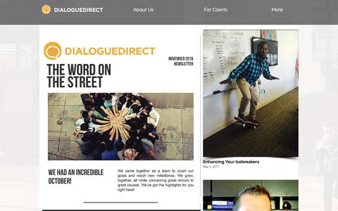 Screenshot of Press Page dialoguedirect.com - News | DialogueDirect | United States - captured May 10, 2017