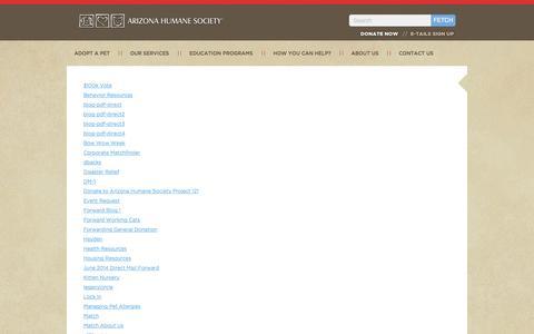 Screenshot of Site Map Page azhumane.org - Sitemap - captured Sept. 19, 2014