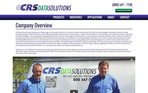 Screenshot of About Page crsdatasolutions.com - CRS Data Solutions - Company Overview - captured July 10, 2017