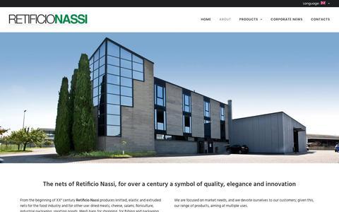 Screenshot of About Page retificionassi.com - About – Retificio Nassi - captured Dec. 17, 2016