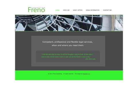 Screenshot of Home Page frenoconsulting.eu - Freno Consulting, Home - captured Sept. 30, 2014