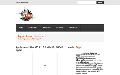 """Screenshot of Developers Page itsalltech.com - Tag Archive for """"developers""""   It's All Tech - captured Sept. 22, 2014"""