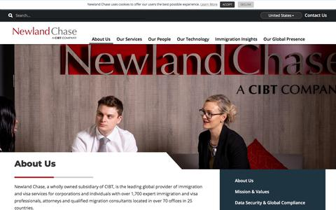 Screenshot of About Page newlandchase.com - About Us | Newland Chase - captured Aug. 10, 2019