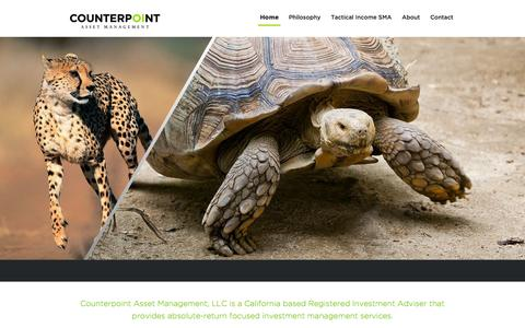 Screenshot of Home Page counterpointassets.com - Counterpoint Asset Management - captured Sept. 18, 2015