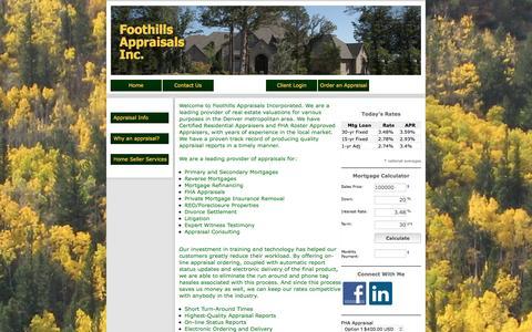 Screenshot of Home Page foothillsappraisalsinc.com - FoothillsAppraisalsIncorporated - captured Aug. 4, 2016