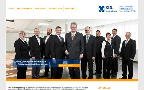 Screenshot of Home Page kid-magdeburg.de - Kommunale Informationsdienste Magdeburg GmbH / Start - captured Oct. 6, 2014