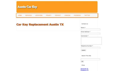 Screenshot of Services Page austincarkey.com - Austin Car Key Local Automotive Locksmith (830)355-2562 - captured Nov. 2, 2014