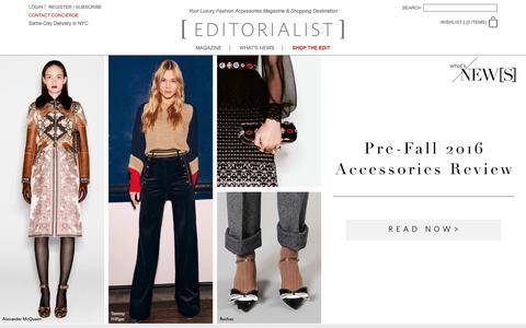 Screenshot of Home Page editorialist.com - Editorialist | Luxury Fashion Accessories Magazine & Online Store - captured Jan. 24, 2016