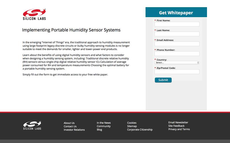 Implementing Portable Humidity Sensor Systems | Silicon Labs