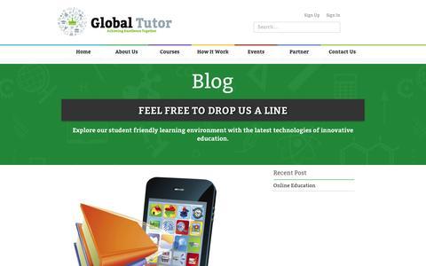 Global Tutors   Blog