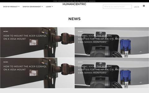 Screenshot of Press Page humancentric.com - News                      – HumanCentric - captured July 23, 2018