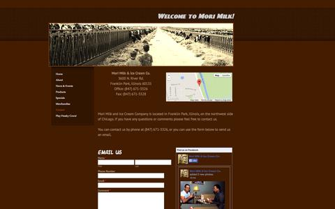 Screenshot of Contact Page weebly.com - Contact - Welcome to Mori Milk! - captured Sept. 17, 2014