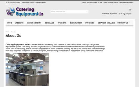 Screenshot of About Page cateringequipment.ie - About Us - captured Jan. 24, 2016