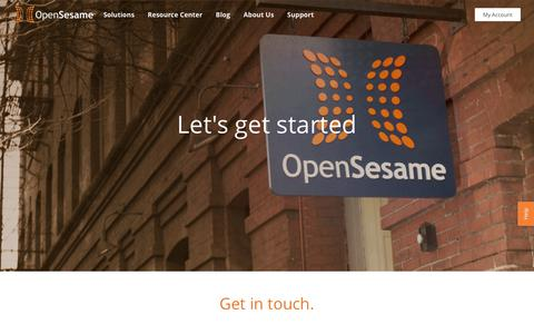 Screenshot of Contact Page opensesame.com - (2) New Messages! - captured Feb. 5, 2019