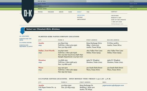 Screenshot of Locations Page okpaper.com - Locations - captured Feb. 14, 2016