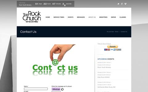 Screenshot of Contact Page gotrock.org - The Rock Church Temecula Valley |   Contact Us - captured Oct. 6, 2014
