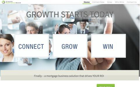 Screenshot of Home Page xtrememortgageworx.com - Home Page - XtremeMortgageWorX - captured Sept. 17, 2014