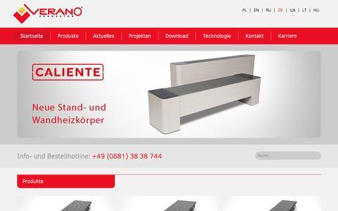 Screenshot of Home Page verano-konvektor.de - Startseite - Verano Konvektor - captured Jan. 23, 2017