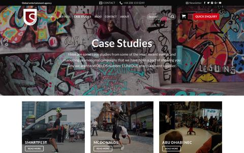 Screenshot of Case Studies Page streets-united.com - Case Studies - Streets United - captured Nov. 9, 2017