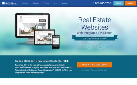Screenshot of Home Page ihouseweb.com - Real Estate Websites with IDX Search by iHOUSEweb - captured Jan. 26, 2015