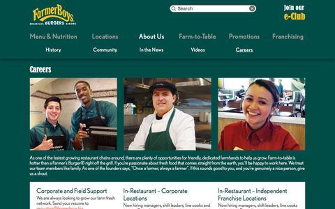 Screenshot of Jobs Page farmerboys.com - Careers | Farmer Boys - captured Dec. 3, 2015