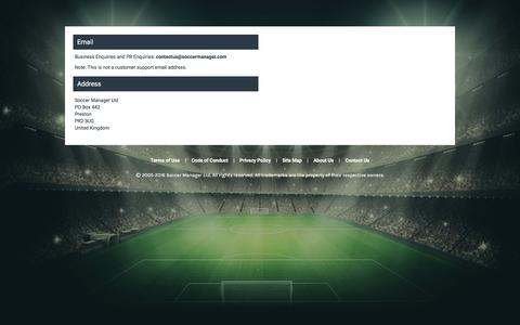 Screenshot of Contact Page soccermanager.com - Contact Soccer Manager | Free Soccer Manager game - captured Jan. 13, 2016