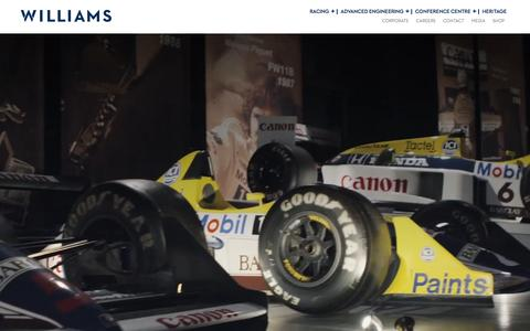 Screenshot of Home Page williamsf1.com - Williams F1 - captured Feb. 14, 2016